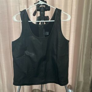 Marc Jacobs Leather Tank Top